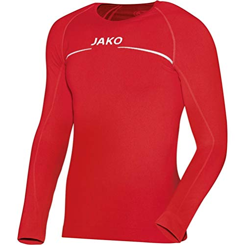 JAKO Longsleeve Comfort Kinder Langarmshirt , rot (01 red) , 116/128