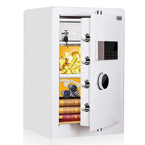 TYJKL Caja Fuerte Caja Fuerte de Seguridad de Seguridad Digital y Cajas de Bloqueo para el hogar de la Oficina en el hogar. almacenar Documentos Importantes (Color : White, Size : 38x36x60cm)