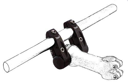 Tranz X Twinholder - Adaptador para tija de Bicicleta, Color Negro