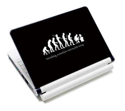 Luxburg® Design Aufkleber Schutzfolie Skin Sticker für Notebook Laptop 10 / 12 / 13 / 14 / 15 Zoll, Motiv: Nerd Evolution