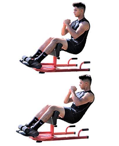 X-Factor Multi Function Deep Sissy Squat Bench Home Gym Machine - Leg Exercise Abdominal Exercises Sit Ups Push Ups -Squat Workout Strength Training