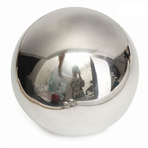 GFULLOV Edelstahl Hohlkugel schwimmende Teichkugeln nahtlose Spiegelkugeln für Outdoor Haus Garten Dekoration, Wie abgebildet, 80 mm