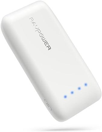 RAVPower 6700mAh モバイルバッテリー 急速充電 (最小 最軽量 /2019年6月時点) iPhone/Andorid 等対応 携帯充電器 ポータブル充電器 【18ヶ月間安心保証】 iSmart2.0機能搭載 RP-PB060 (白)