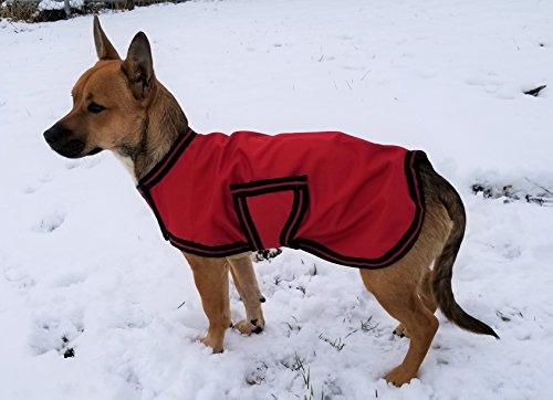 Horseware OSO1O Exklusiver Hundemantel, Rot/Schwarz/Rot, XL