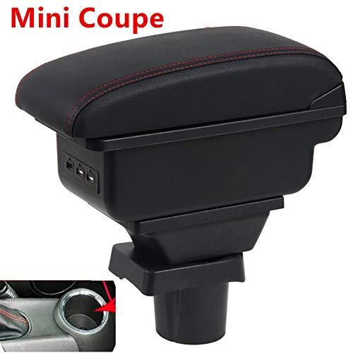 LSYBB para Mini Cooper R50 R52 R53 R56 R57 R58 F55 F56 F57 Compatriot R60 F60 Apoyabrazos Estilo Accesorios de Coche Caja