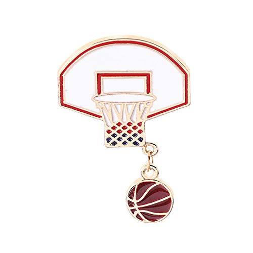 dragonaur-home decor Broche de aleación de bola de baloncesto de moda Pin de dibujos animados ropa Pin bufanda insignia decoración ropa mochila joyería alfileres aleatorio