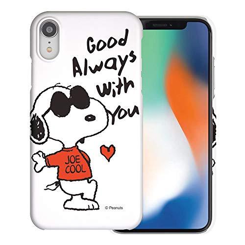 iPhone XR ケース と互換性があります Peanuts Snoopy ピーナッツ スヌーピー ハード ケース/艶消しの硬い スリム スマホ カバー 【 アイフォンXR 】 (スヌーピー な愛 赤) [並行輸入品]
