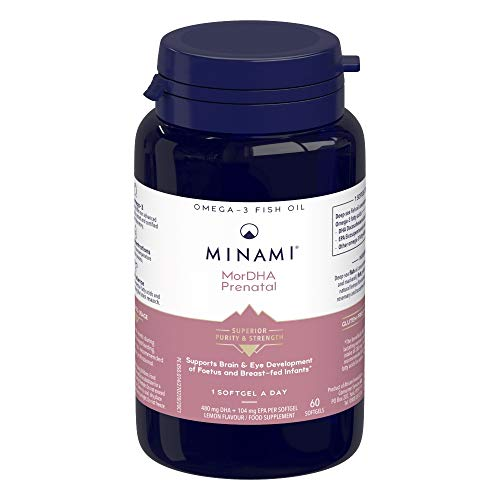 Omega 3 Fish Oil Supplement - Minami - MorDHA Prenatal with high...