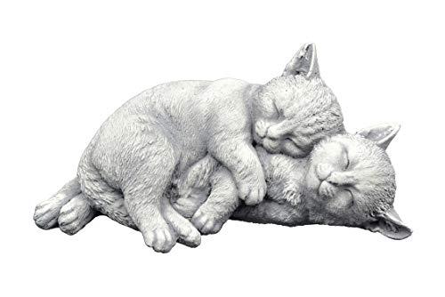 gartendekoparadies.de Massive Steinfigur Spielende Katzen Gartendeko aus Steinguss frostfest