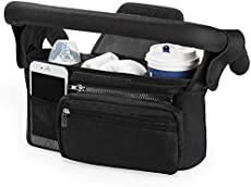 Universal Stroller Organizer with Insulated Cup Holder by Momcozy - Detachable Phone Bag & Shoulder Strap, Fits for Stroller like Uppababy, Baby Jogger, Britax, Bugaboo, BOB, Umbrella and Pet Stroller