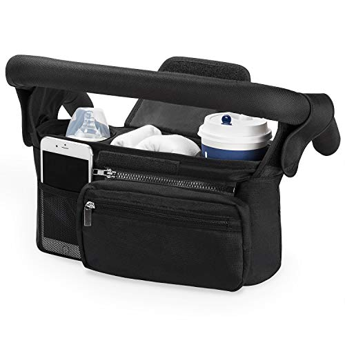 Universal Stroller Organizer with Insulated Cup Holder by Momcozy - Detachable...