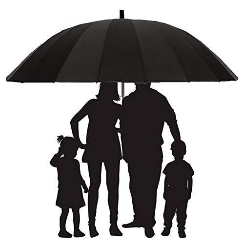 HFM 200cm Golf Regenschirm Winddicht Regenfest Doppel Übergroßer Regenschirm Großer Regenschirm Extra großer gerader Regenschirm,Rot