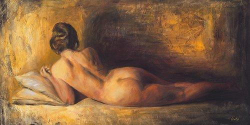 Alu-Dibondbild Escha van den Bogerd - Fascino - 100 x 50cm - Premiumqualität - Schlafzimmer, Aktbilder / Erotik, People & Eros, dunkel, sexy, nackt, Frau, Figur, romantisch - MADE IN GERMANY - ART-GALERIE-SHOPde