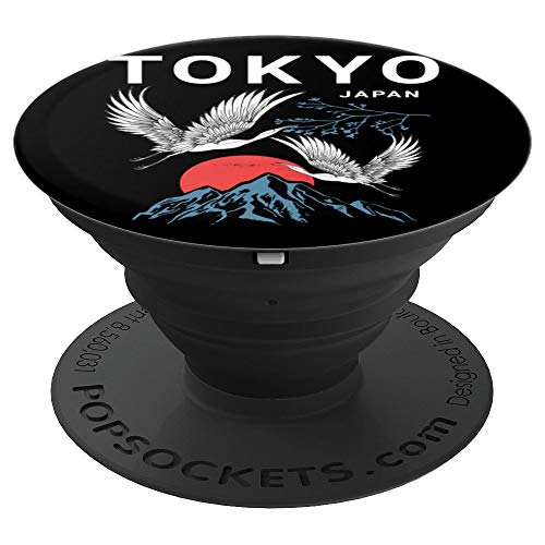 Tokyo Japan Mount Fuji Storks PopSockets Grip and Stand for Phones and Tablets