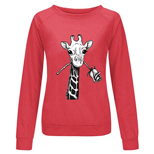 Women's Blouse, 2020 Women's Casual Fashion Animal Printed Round Neck Large Size Sweater, Clothing for Women...