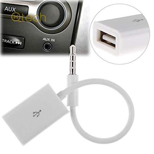 Hallenwerk USB-Klinke Audio Adapter Kabel 3,5mm Klinke Stecker auf USB A Stecker MP3 für Autoradio, Smartphone, USB Sticks und weitere