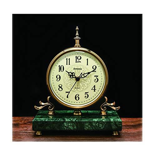 jinyi2016SHOP Table Clock Desk Clock/living Room,Desktop, Bedroom/creative Silent Desktop Quartz Clock,Mantel Clock,Emerald Green Desk Clock
