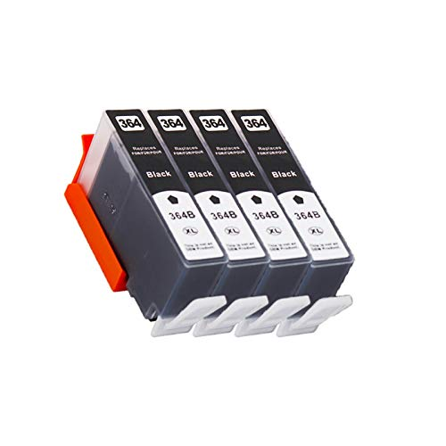 CMDZSW Cartucho de Tinta Compatible para HP364 364 XL para HP 3070A 3520 3522 4620 4622 5511 5515 5515 5515 5522 5524 6515 Impresora (Color : 4BK)
