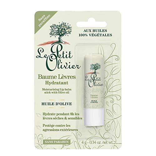 Le Petit Olivier Baume Lèvres Hydratant Huile d'Olive Sans Paraben 4g (lot de 3)