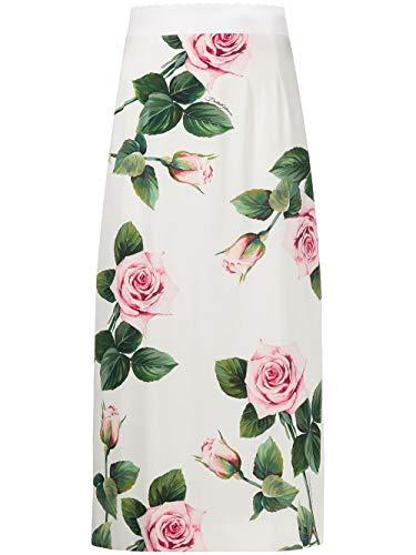Luxury Fashion | Dolce E Gabbana Donna F4BTFTFSAZDHA96C Bianco Fibre Sintetiche Gonna | Primavera-Estate 20