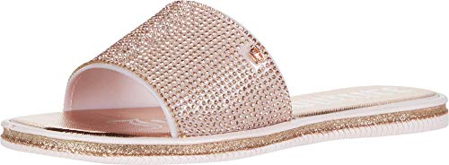 Juicy Couture Women's Yippy Womens Slide Sandals, Beach Sandal, Flip Flops, Size 6 Magenta Sport