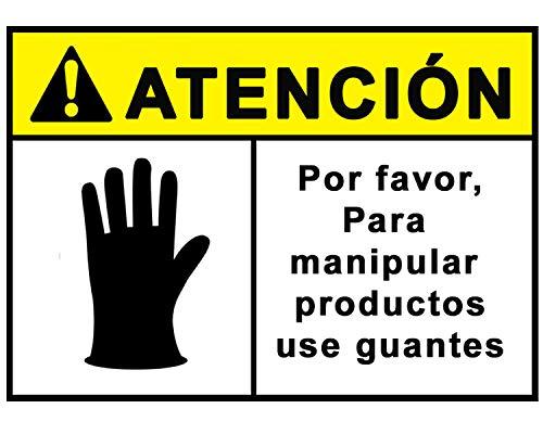 Señalización COVID 19 | Cartel Uso de Guantes para empresas y comercios | Señal Coronavirus Autoinstalable y Resistente a la Intemperie | 21 x 30 cm | Descuentos por Cantidad