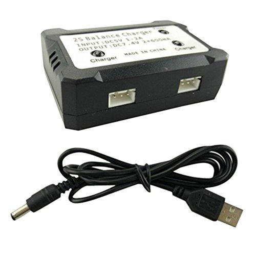 zmigrapddn RC parti di ricambio 2S 7.4V USB Charger per Syma X8 X8C X8G X8HG X8HW X8HC MJX X101 RC elicottero Drone accessori, RC Accessori di ricambio