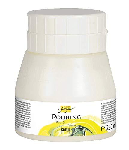 Kreul 87205 - Solo Goya Pouring Fluid, flüssiges Acrylmedium für Gieß- und Fließtechniken, auf Wasserbasis, optimiert das Fließverhalten von Acrylfarben, 250 ml Dose
