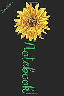 Sunflower Notebook: A cute sunflower floral Lined notebook gift idea for Women or little girls to make her smile for Mothe...