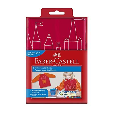 Faber-Castell 201204 Kinder-Malschürze, rot/orange, Einheitsgröße