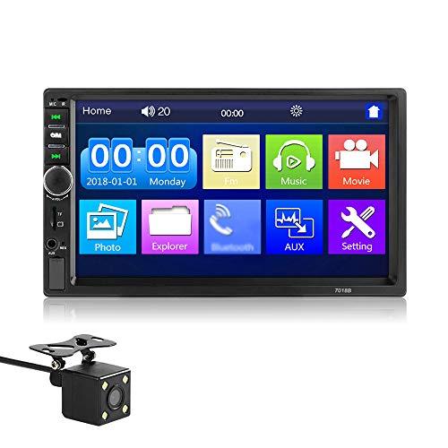 KTOO Ricevitore stereo 2 Din 2din Autoradio Autoradio 7 `` Schermo tattile ad alta definizione 12,0 V Lettore stereo per auto BT con telecomando con telecamera di retromarcia Autoradio