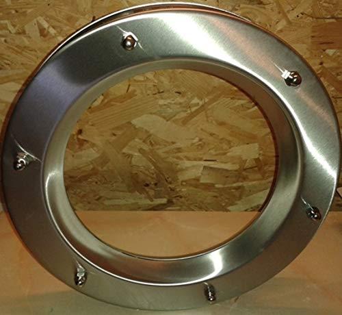 portholes.bullaugen Ojo de Buey para Puerta de Acero Inoxidable INOX, diámetro de 350 mm, Vidrio Transparente de Seguridad, Tuercas ciegas