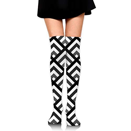 Chevron ángulo soporte calcetines casuales hombres y mujeres caliente gruesa rodilla botas altas