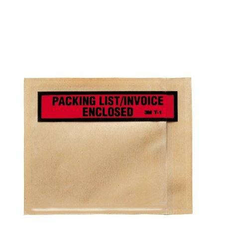 3M Top Print Packing List Envelope PLE-T1, 4-1/2 in x 5-1/2 in, 100 per carton