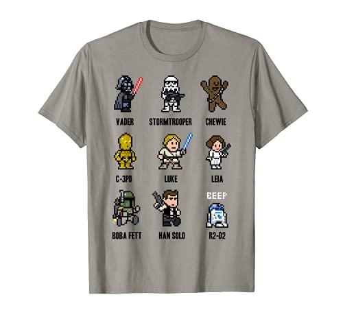 Star Wars Sprite Characters 8-Bit Pixel Graphic T-Shirt