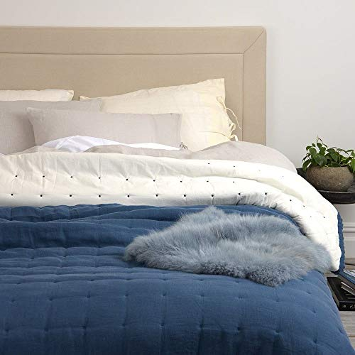 Amazing Deal 1 Piece Modern Style Navy Blue Quilt Queen Size, Beautiful Hand-Sewn Tufts Slightly Slu...