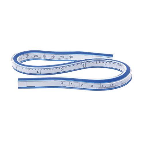R-WEICHONG Kurvenlineal Flexibles Zeichenwerkzeug Kunststoff Vinyl 30cm 50cm