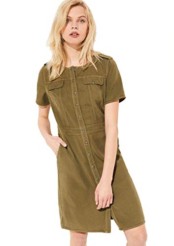Comma CI Damen 88.004.82.5446 Kleid, 7732 Green, 36