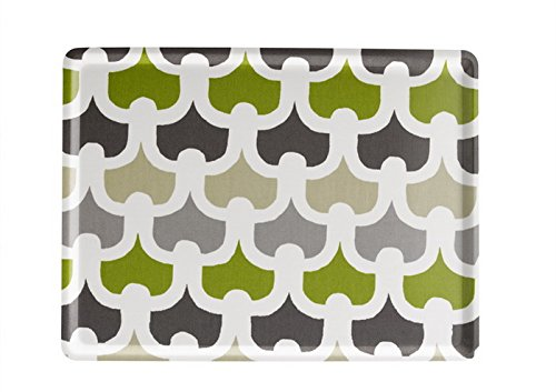 PLATEX 104030231S Plateau en stratifié Moyen Modèle décor Méli-Mélo Vert