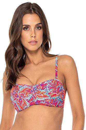Sunsets Damen Iconic Twist Bra Sized Bandeau Top Swimsuit Bikini, Samba, 95C