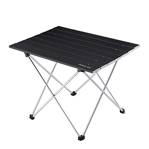 PORLAE Camping Table Foldable Portable Aluminum Tables with Carry Bag for Outdoor Camping Hiking and Picnic 16.2' L X 13.8' W X 11.4' H