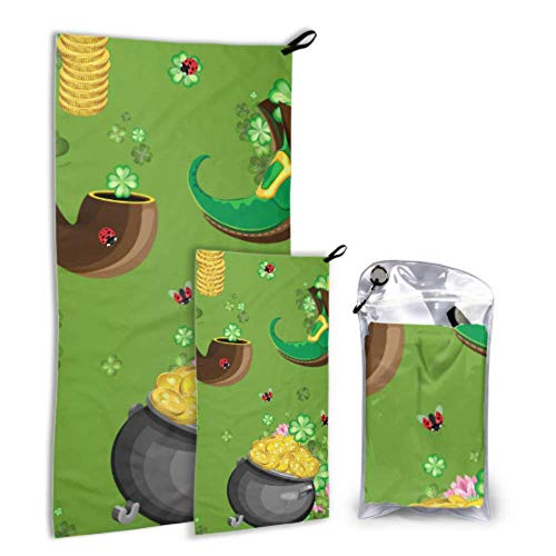 Xuyonh Cute Fashion Creative Magic Boots 2 Pack Microfiber Boy Towels Beach Beach Towel for Travel Set Fast Drying Best for Gym Travel Backpacking Yoga Fitnes