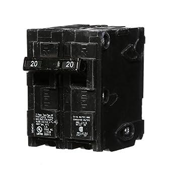 Siemens -HI Q220 20-Amp Double Pole Type QP Circuit Breaker black