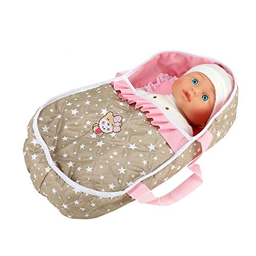 Toi-Toys 02154A - Babypuppe LOVELY BABY ca. 32 cm mit Tragetasche, Sternenmuster