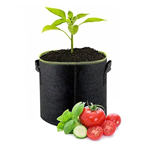 BE-STRONG Bolsa De Plantación No Tejida, Bolsa De Planta Reutilizable, Bolsa De Plantación De Vegetales De Papa Tomate Y Fresa con Asa 5 Galones 7 Galones 10 Galones, Dos Piezas,5 gallons