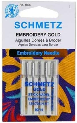 Schmetz Aiguilles pour machine /à broder en titane Taille 90