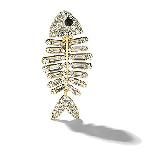 MIIAOPAI Broschen Broschen, Einzigartiges Design Persönlichkeit Fishbone Frauen Brosche, Anzug Zubehör Kleidung Schal Mantel Brosche Pins