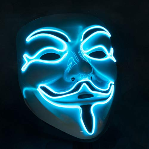 GOODS+GADGETS LED Anonymous Maske - beleuchtete V wie for Vendetta Guy Fawkes ACTA Mask
