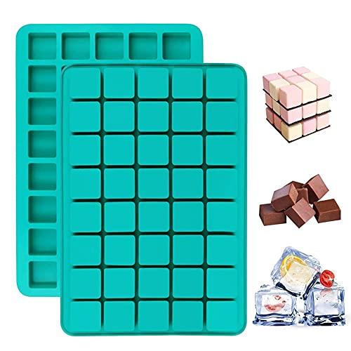 40 Cavity Green Silicone Chocolate Hele Cream Molde, DIY Candy Bar Hielo...