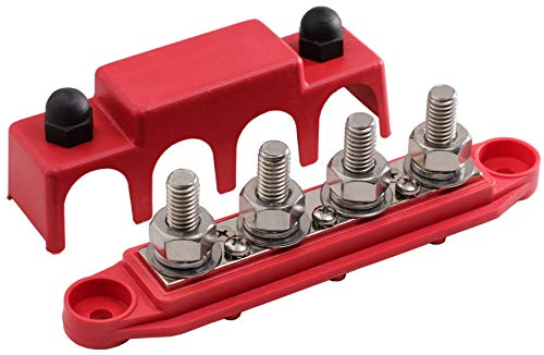 Fastronix 3/8' 4 Stud Power Distribution Block with Cover